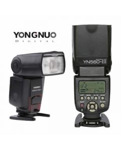 Yongnuo YN560-III-USA Speedlite Flash with Integrated 2.4-GHz Receiver for Canon, Nikon, Pentax, Olympus, GN58, (Black)