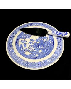 THE SPODE BLUE ROOM COLLECTION CAKE TRAY W SPADE-BLUE