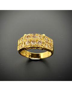 DIAMOND 18K YELLOW GOLD LADY'S RING