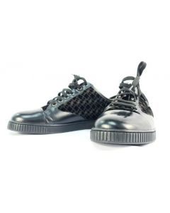SHOES W/LACES-QUILT/BLK/SIZE 35