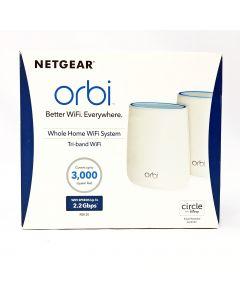 NETGEAR RBK20  Orbi Whole Home Wi-Fi Mesh System, White