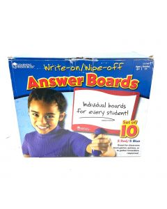 LEARNING RESOURCES ANSWER BOARDS-10PCS/SET