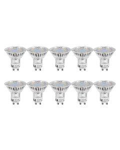 LE GU10 LED Light Bulbs, Warm White 2700K, 50W Halogen Bulb Equivalent, 4W 350lm, 120 Degree Beam Angle, Pack of 10 [Energy Class A++]