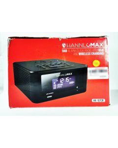 HANNLOMAX DAB ALARM CLOCK RADIO WITH USB & WIRELES CHARGING / BT STREAMING