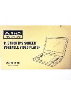 "PORTABLE DVD PLAYER 11.6"""