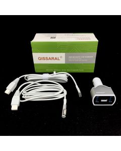 LAPTOP CAR CHARGER WITH USB PORT FOR APPLE