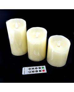 FLAMELESS CANDLE LIGHT  - SET OF 3 pcs