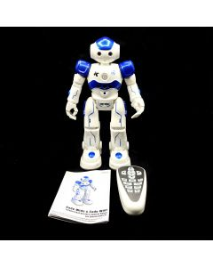 TOY ROBOT REMOTE BLUE WHITE