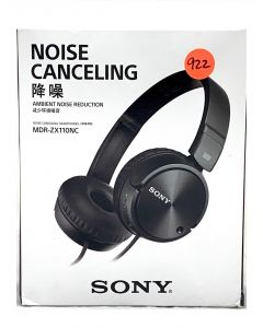 Sony MDR-ZX110NC Noise Cancelling Headphones, Black