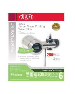 DuPont WFFM350XCH Electric Metered 200-Gallon Deluxe Faucet Mount Premium Water Filter, Chrome