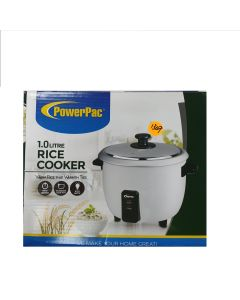 PowerPac 1L Rice Cooker with Aluminium Inner Pot