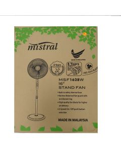 Mistral Stand Fan,Black,16 Inches