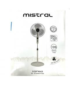Mistral Stand Fan,Black ,16 Inches