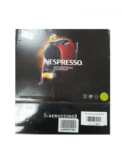 Nespresso Essenza Mini Coffee Maker with Aeroccino Bundle, Pure White