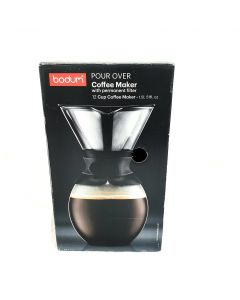Bodum Pour Over Coffee Maker with Permanent Filter, 1.5L, Black