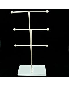 Gift Boutique Trigem Jewelry Stand White/Metal Nickel One Size