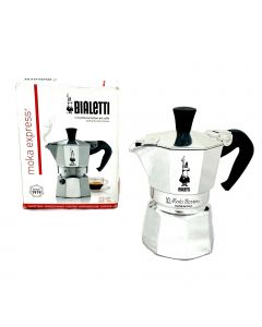 The Original Bialetti Moka Express Made in Italy 1-Cup Stovetop Espresso Maker with Patented Valve