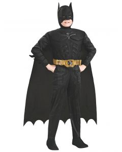 Batman Dark Knight Rises Child's Deluxe Muscle Chest Batman Costume with Mask/Headpiece and Cape - Medium