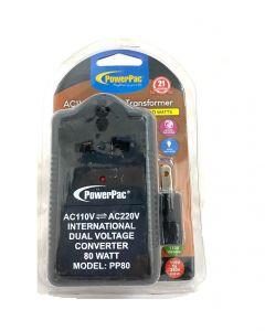 PowerPac PP80 Step Up & Down Voltage Converter Transformer 80W 110V / 220V