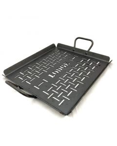 Lodge CRSGP12 Carbon Steel Grilling Pan, Pre-Seasoned, 12-inch
