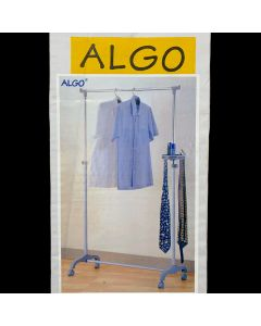 Algo CW-3634-04 Adjustable Single Pipe Clothe Hanger, Grey