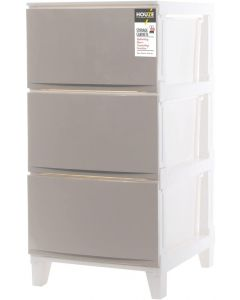 Houze 3 Tier 'Knock Down' Compact Cabinet, Grey