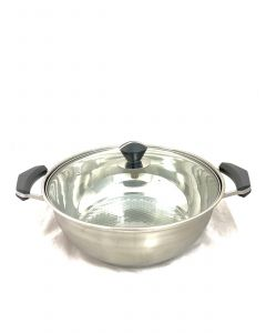 STAINLESS STEEL HOT POT  -32CM