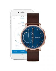 Skagen Hybrid Smartwatch - Hagen Dark Brown Leather SKT1103
