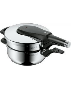 WMF Perfect Pro Stackable Pressure Pan Cookers with O Insert, 4.5L, Set of 2