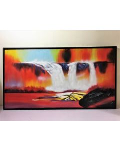 Acrylic Water Falls Landscape Painting
