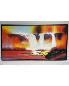 Water Falls Landscape Oil Painting