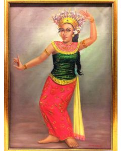 Balinese Dancer Canvas Oil Painting by DURADIAT