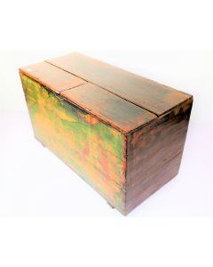 Heritage Hand Paint Wood Storage Trunk