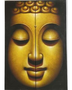 Buddha Face Oil Painting on Canvas