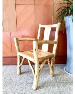 Brunch Rustic Natural Wood Chair