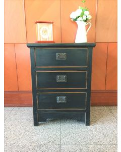 Teak wood Nightstand with 3 Drawer