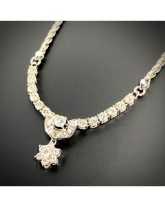 DIAMOND NECKLACE 18K WHITE GOLD