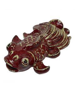 PORCELAIN FISH DECO/30CM/RED/BEIGE