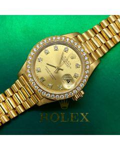ROLEX 69138 LADY'S WATCH ORIGINAL DIAMOND BEZEL