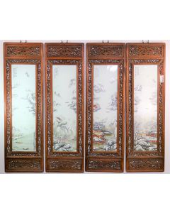 Chinese Antique Porcelain Panels Wall Hang