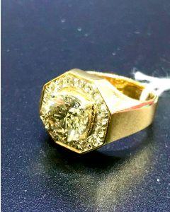Men Yellow Gold Diamond Ring