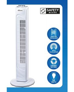 Powerpac Tower Fan with Oscillation-29 Inch (model no:PPTF290)