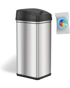 ITOUCHLESS 1.3GALLON STAINLESS STEEL SENSOR TRASH CAN