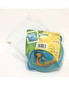 Nuby Easy Go Suction Bowl and Spoon, Blue, Small, 3 count