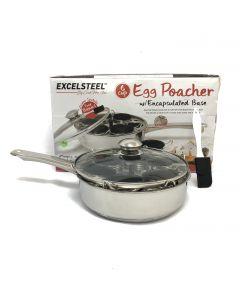 Excelsteel Stainless 6 Non Stick Egg Poacher