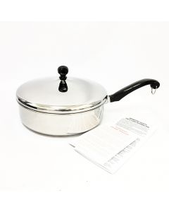 """Farberware Classic Stainless Steel 10"""" Covered Saute Fry Pan"""