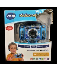 VTech Kidizoom Duo Deluxe Digital Selfie Camera with MP3 Player & Headphones, Blue