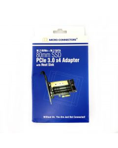 Micro Connectors PCIE-M20802HS Adapter for SSD