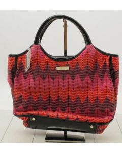 KATE SPADE TOTE BAG-RED/PATTERN/SEQUIN