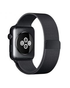 Apple Watch Strap [42mm / 44mm], Stainless Steel Milanese Loop Replacement Band with Magnetic Closure iWatch Series 5 4 3 2 1 Sports [Black]